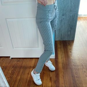 Textured Grey stretchy pants